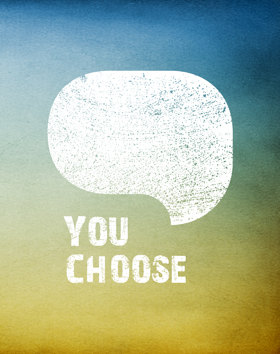 you choose logo